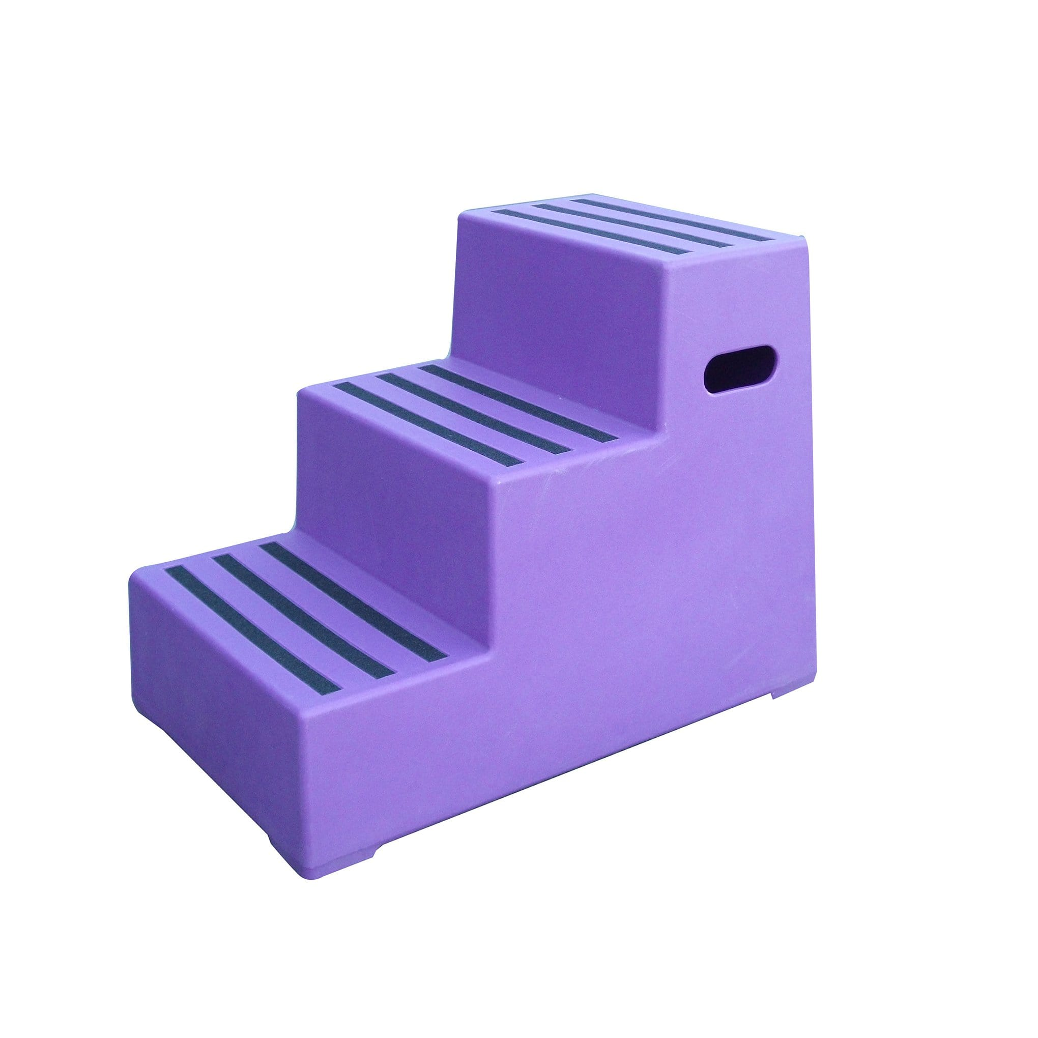 Classic Showjumps Premium Three Tread Mounting Block in Purple