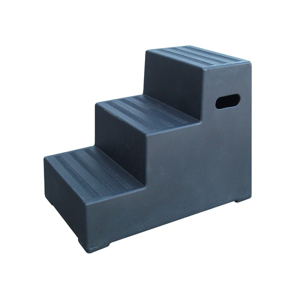 Classic Showjumps Premium Three Tread Mounting Block in Black