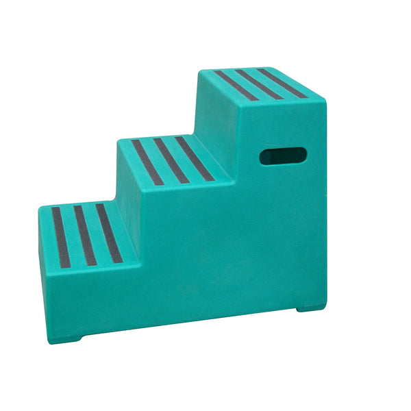 Classic Showjumps Premium Three Tread Mounting Block in Green