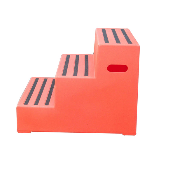 Classic Showjumps Premium Three Tread Mounting Block in Orange