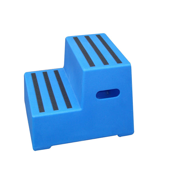 Classic Showjumps Premium Two Tread Mounting Block in Blue