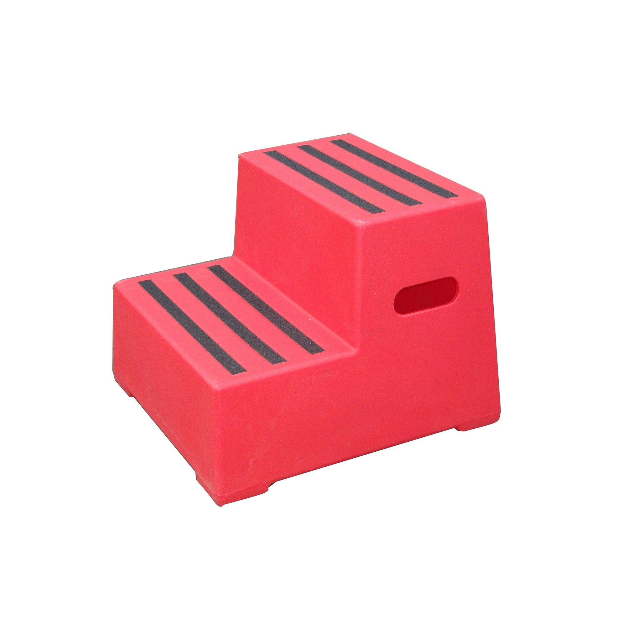 Classic Showjumps Premium Two Tread Mounting Block in Red