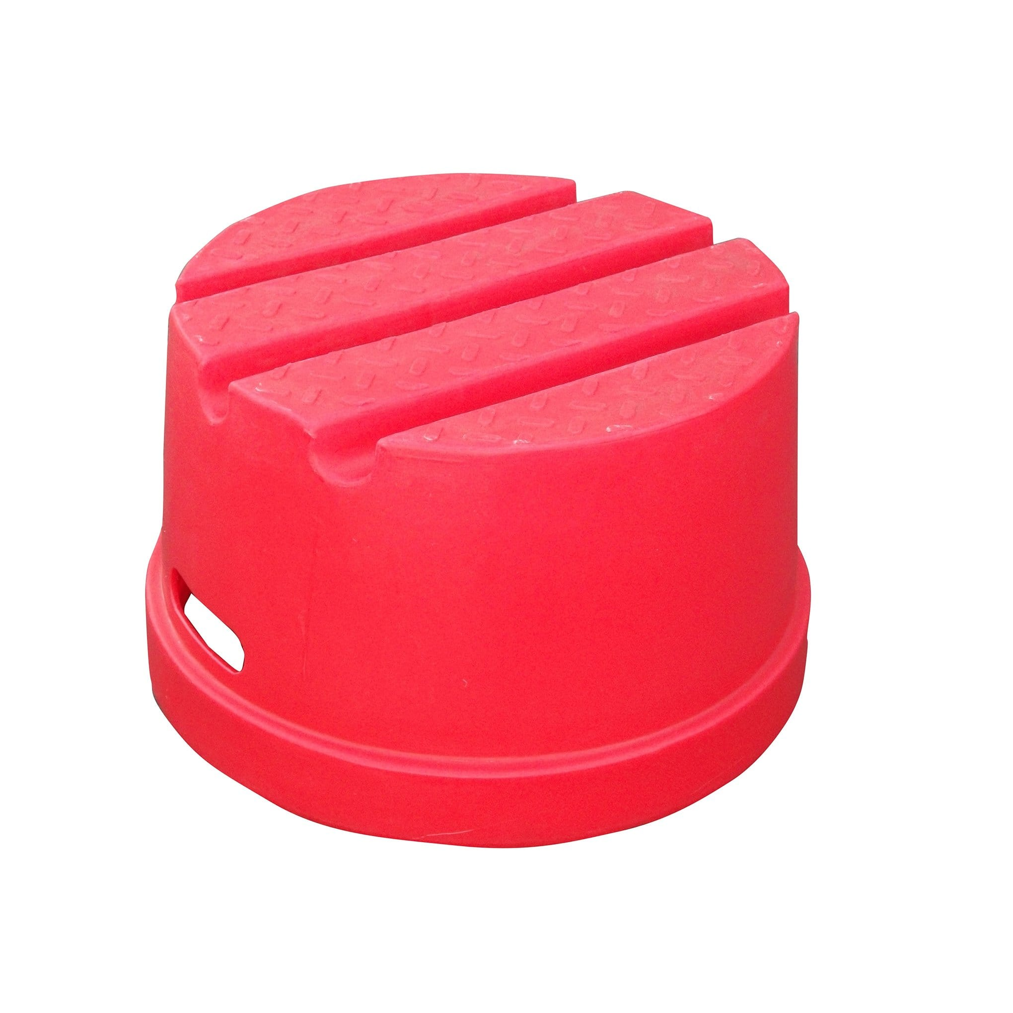 Classic Showjumps Standard One Tread Round Mounting Block Pink