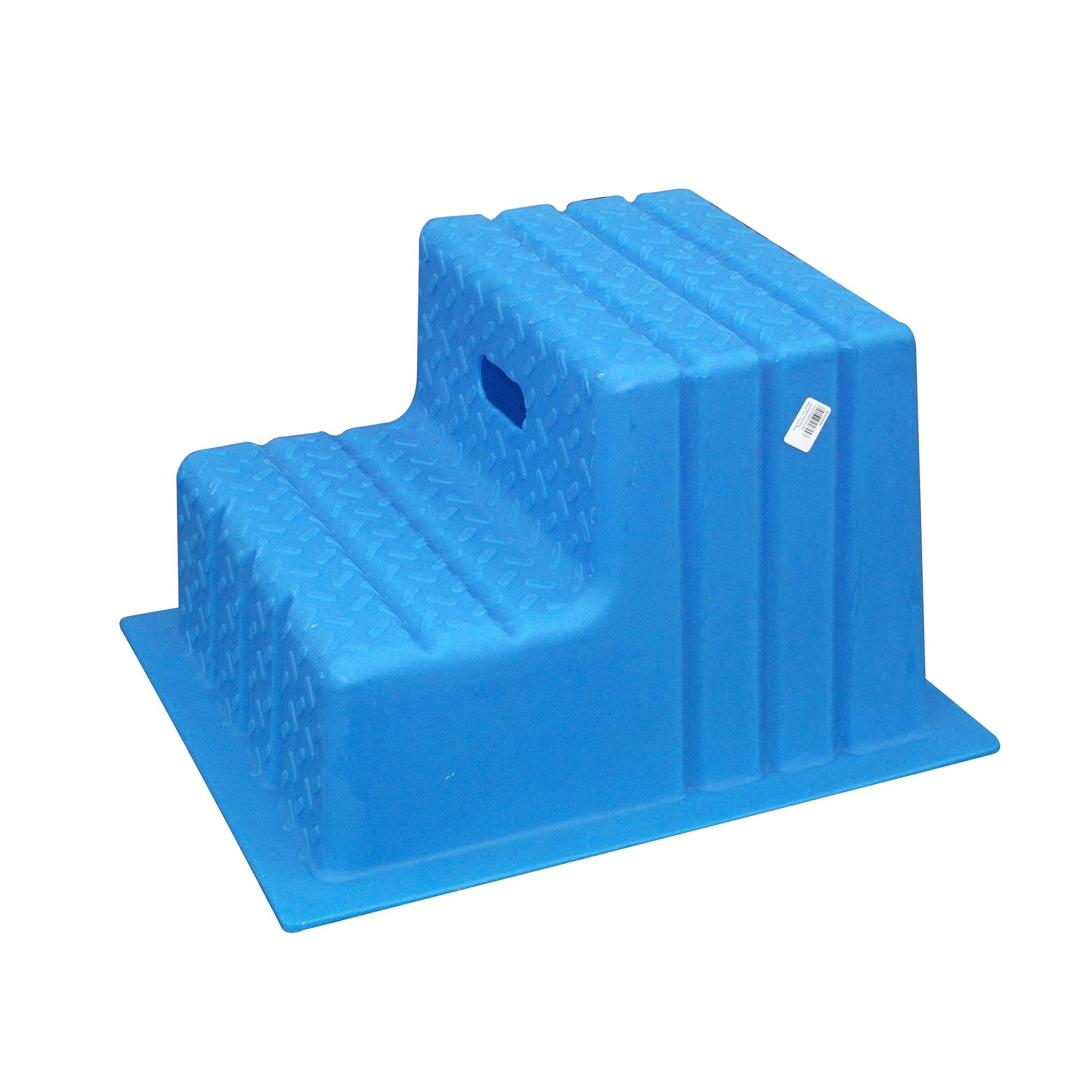 Classic Showjumps Standard Two Tread Mounting Block in Blue