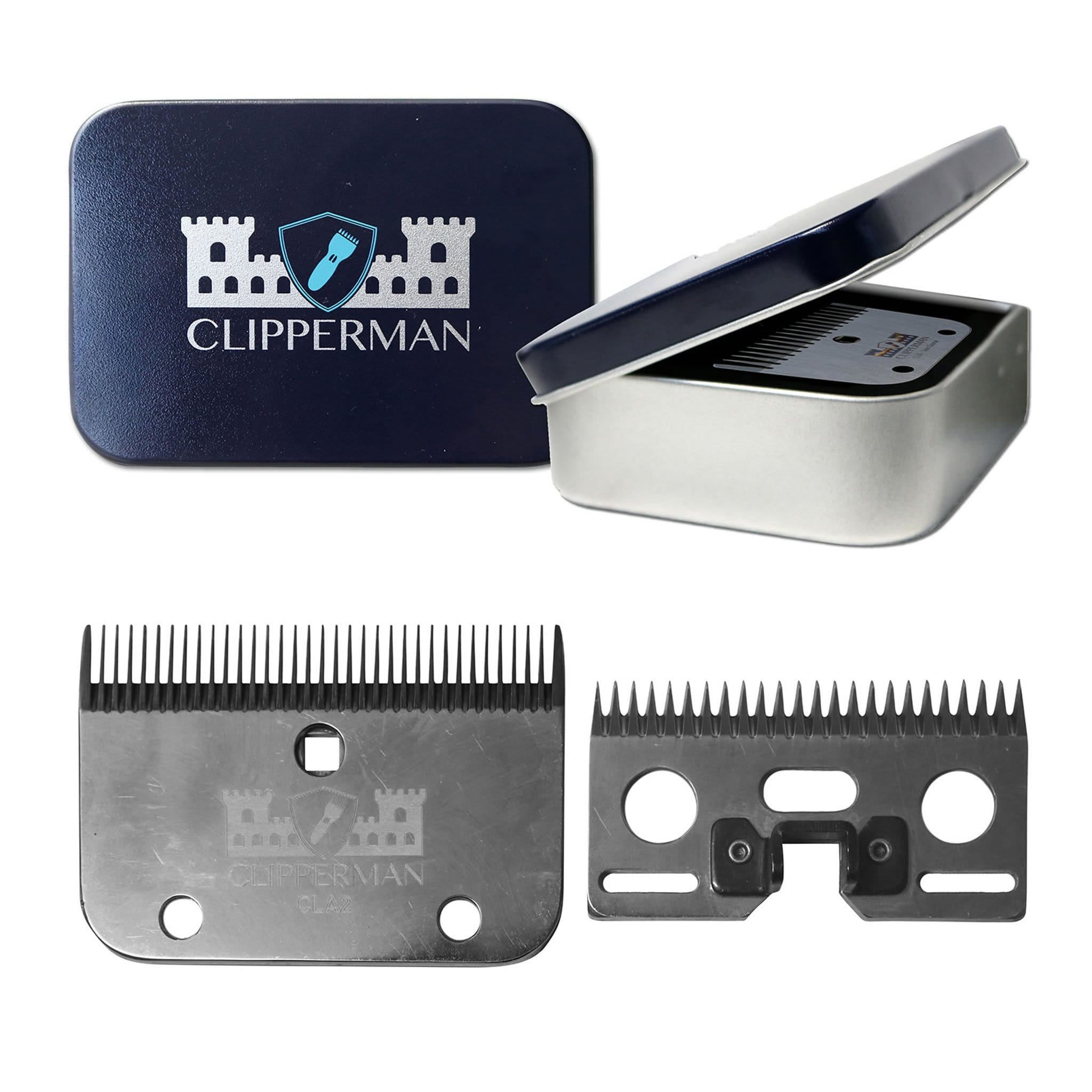 Clipperman CLA2 German Steel Blade Set CLP1002 for Clipperman Fortress, Baroness and Dragon Clippers