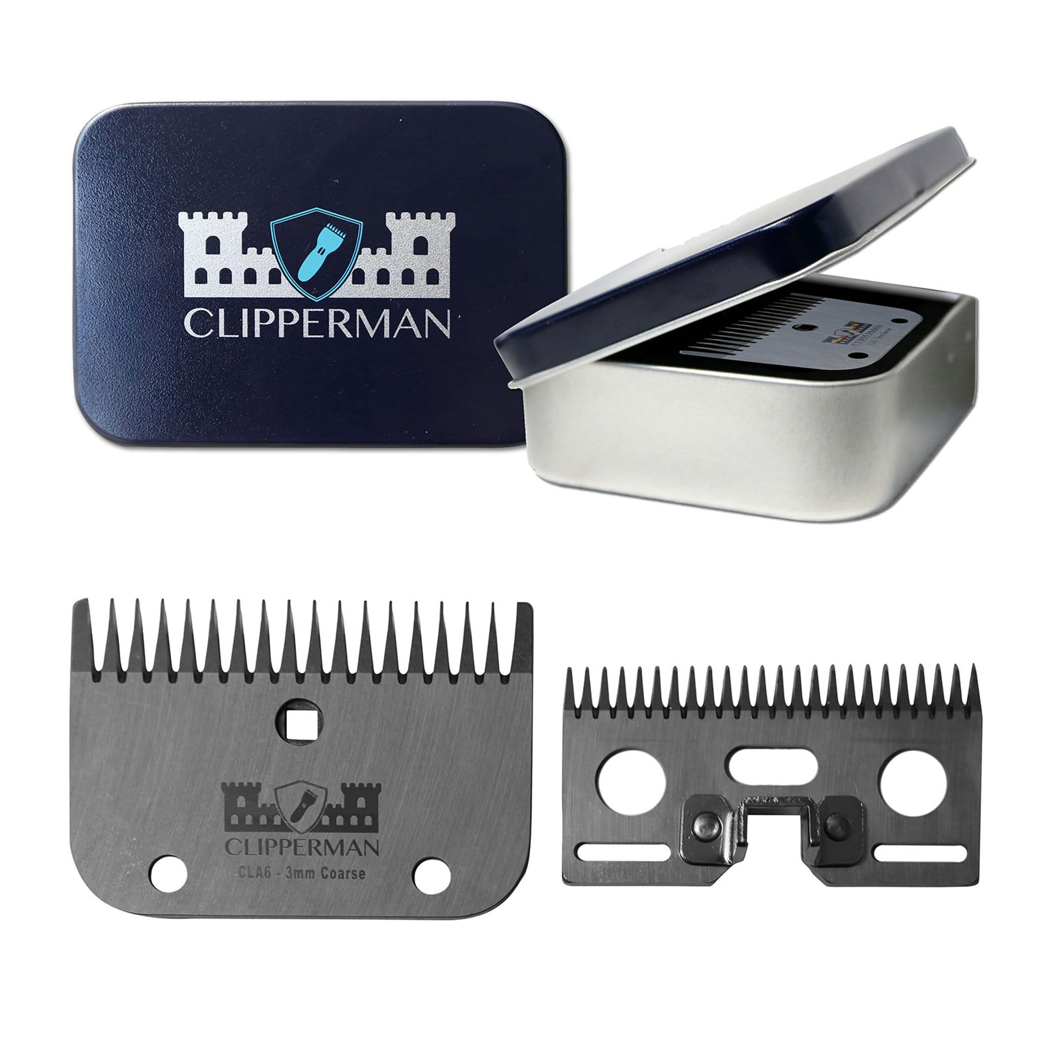 Clipperman CLA6 German Steel Blade Set CLP1006 for Clipperman Fortress, Baroness and Dragon Clippers For Coarse Hair