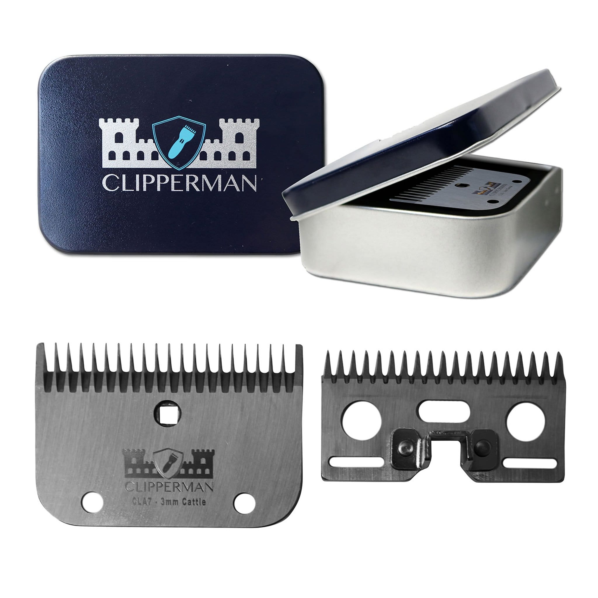 Clipperman CLA7 German Steel Blade Set CLP1007 For Clipperman Fortress, Baroness and Dragon Clippers