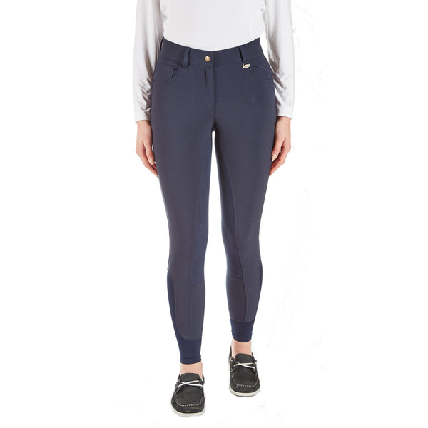 Toggi Clydesdale Ladies High Waist Breeches Midnight Blue Front