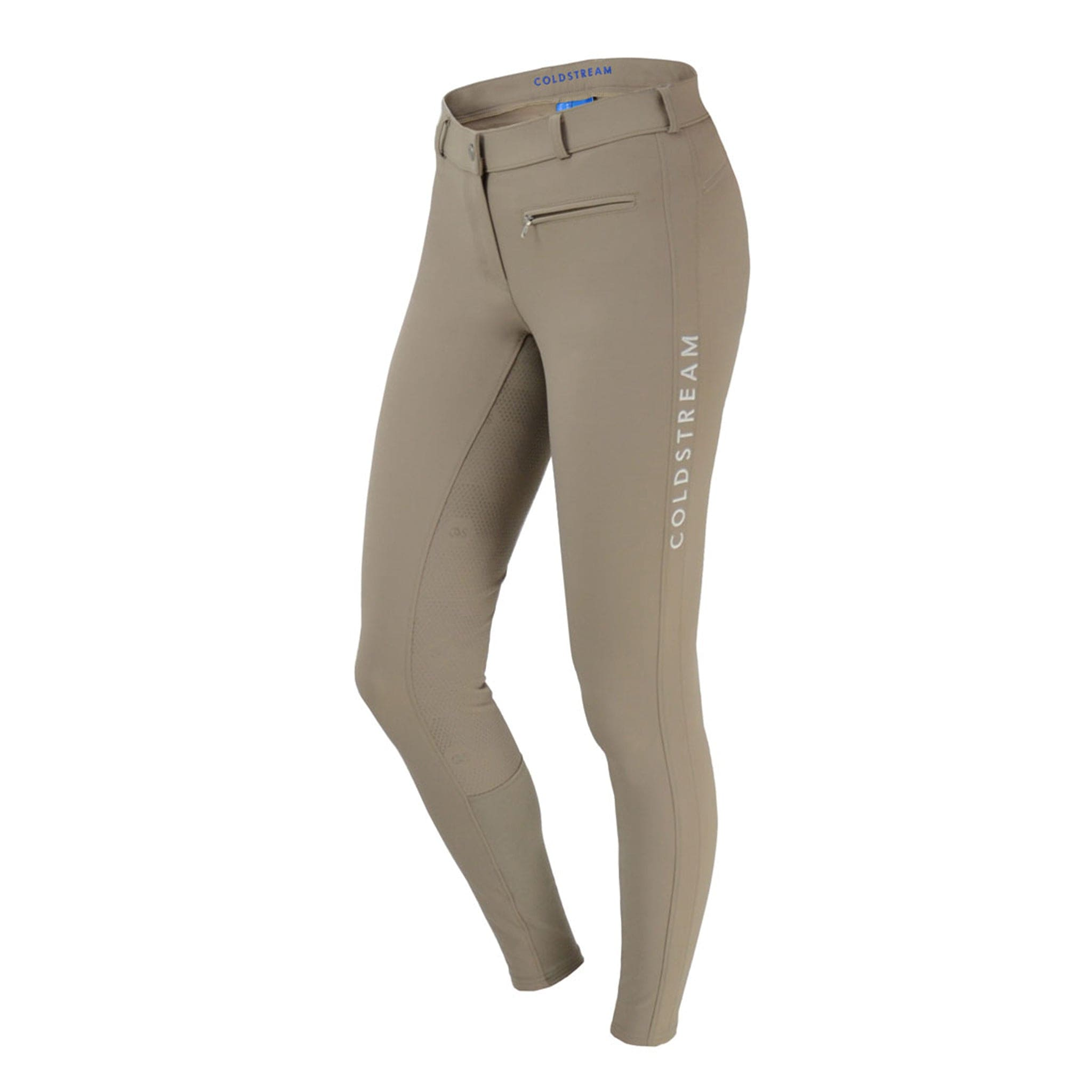 Hy Coldstream Kilham Silicone Full Seat Competition Breeches 24982 Taupe Front