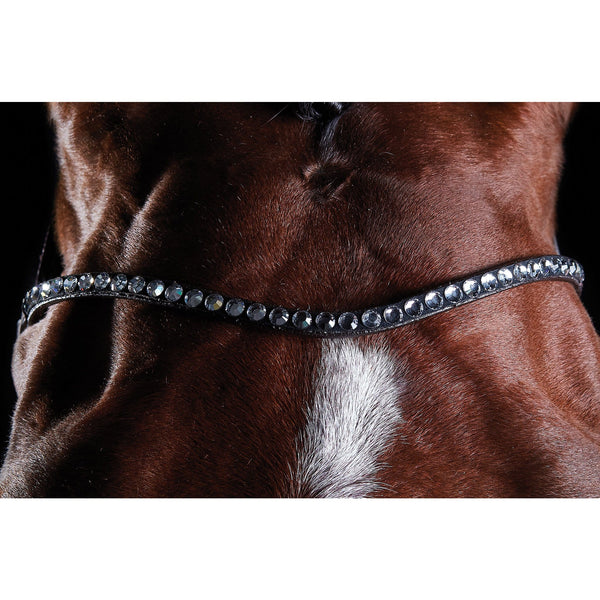 Collegiate ComFiTec Crystal Bridle Brown Browband 807704