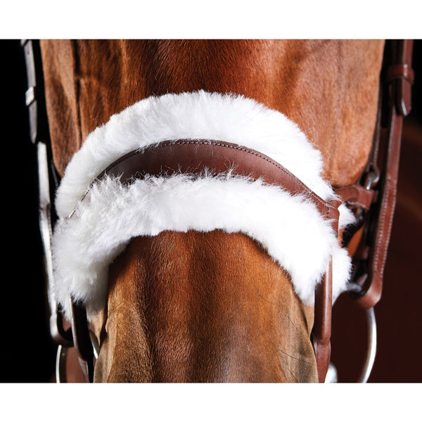 Collegiate ComFiTec Sheepskin Bridle Brown Noseband 811158
