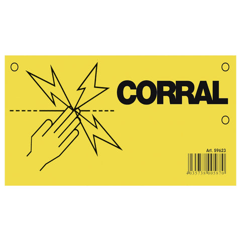 Corral Electric Fence Warning Sign CRL0380