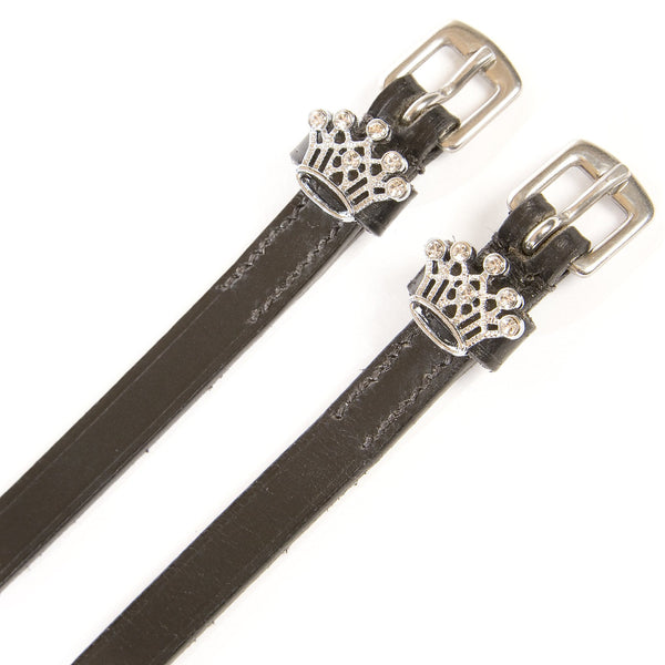HyClass Diamante Spur Straps with Crown