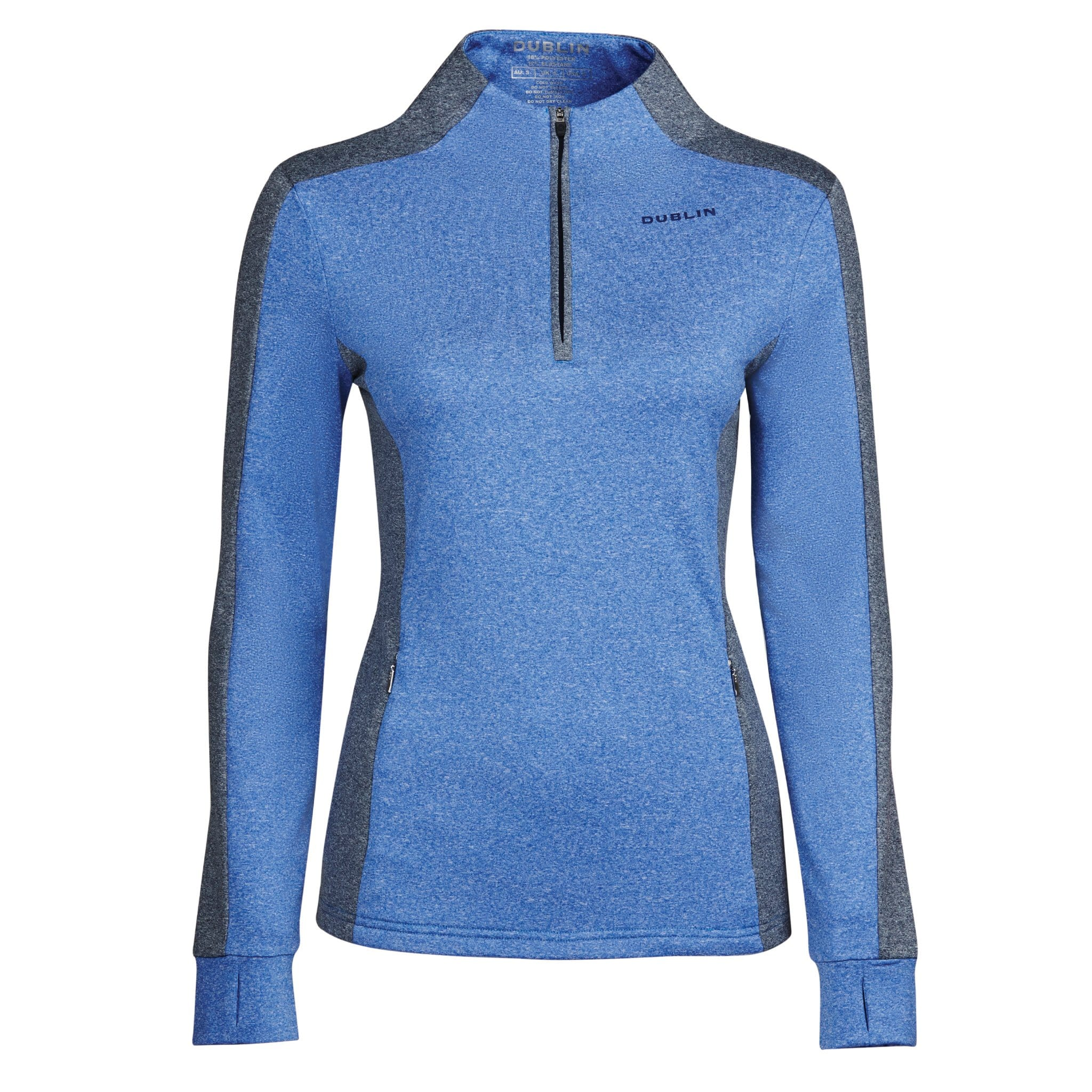Dublin Rachel 1/2 Zip Thermal Top Dazzling Blue 1000500001.
