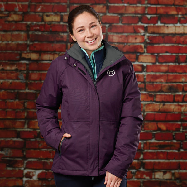 Dublin Annabelle Waterproof Jacket Plum Lifestyle 812740