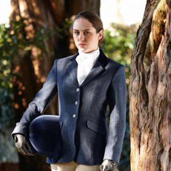 Dublin Cubbington Ladies Tweed Jacket Navy 588594