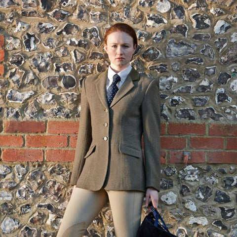 Dublin Cubbington Ladies Tweed Jacket Green 588577