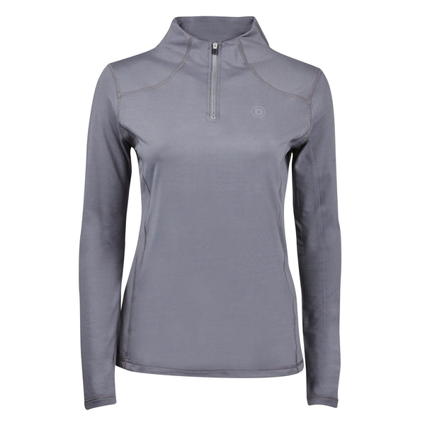 Dublin Diamond Long Sleeve Top in Iron 810294