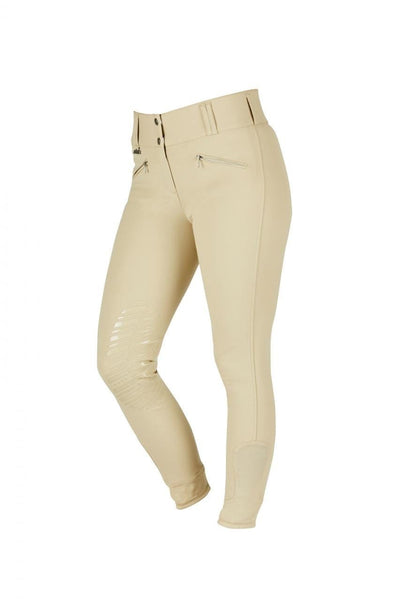 Dublin Supa Embrace Performance Gel Knee Patch Breeches - 26 / Beige | EQUUS