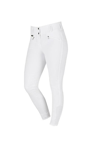 Dublin Supa Embrace Performance Gel Knee Patch Breeches - 26 / White | EQUUS