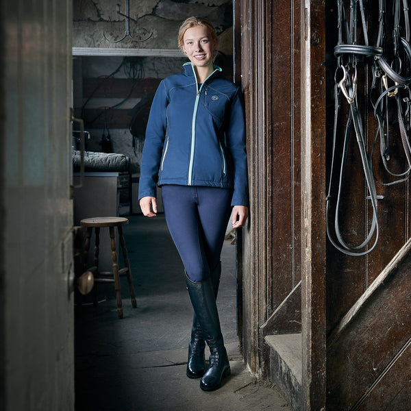 Dublin Onyx Gel Full Seat Breeches Lifestyle With Bridles