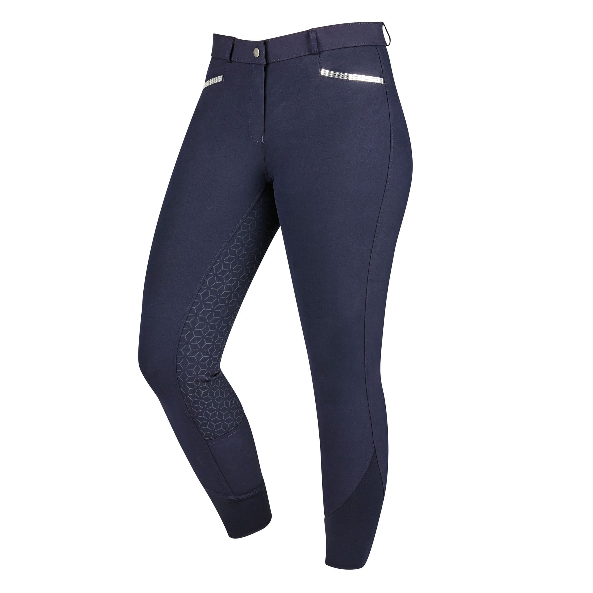 Dublin Onyx Gel Full Seat Breeches Navy Front