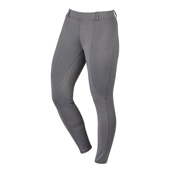 Dublin Performance Cool-It Gel Riding Tights Charcoal Front 590203