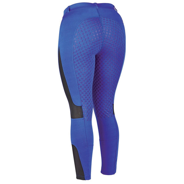 Dublin Performance Cool-It Mesh Flex Riding Tights in Blue Rear