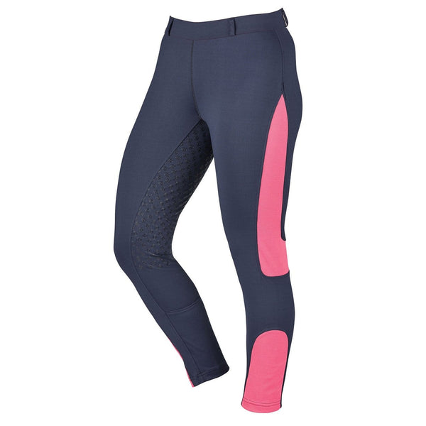 Dublin Performance Cool-It Mesh Flex Riding Tights in Navy Front