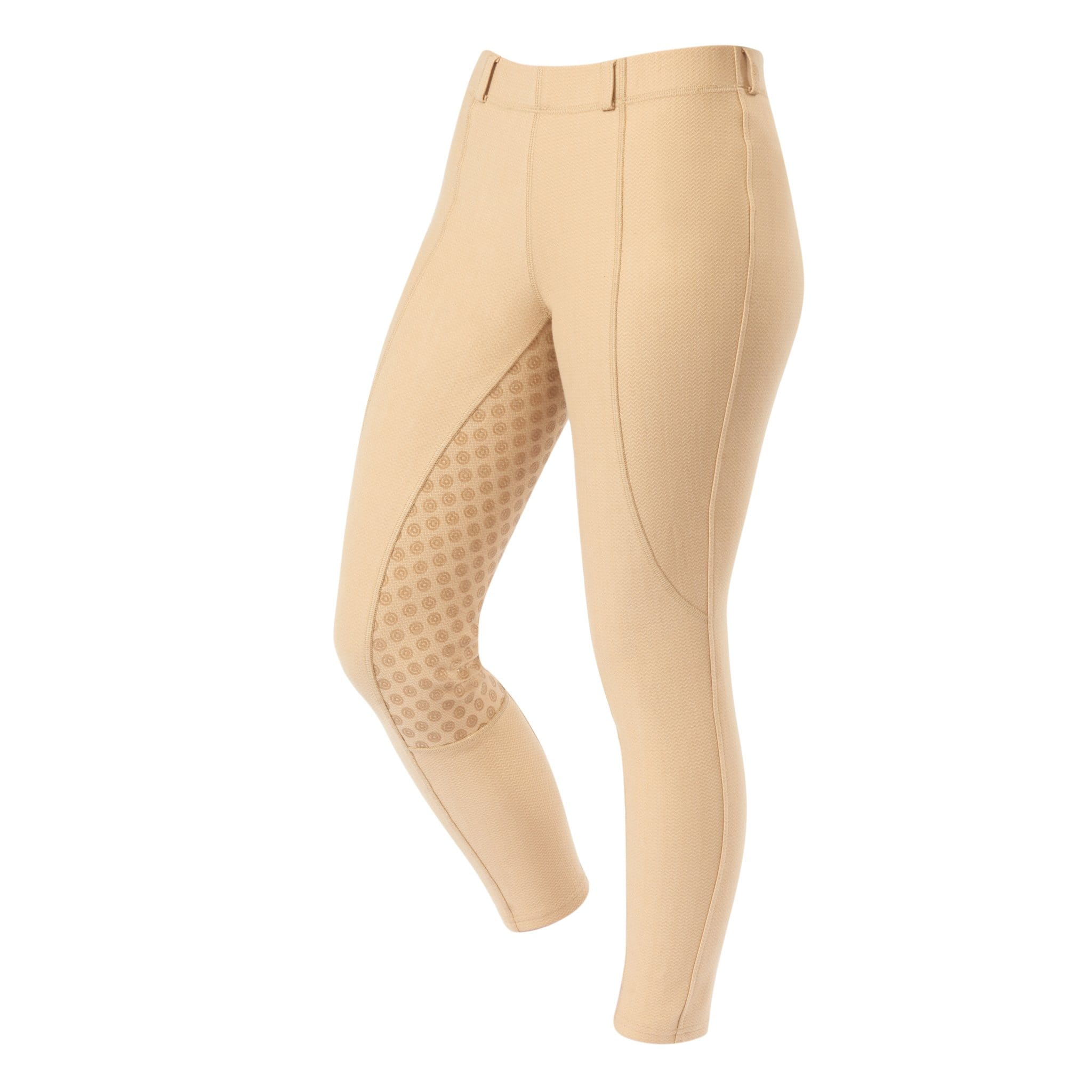 Dublin Performance Warm-It Gel Silicone Full Seat Riding Tights Beige Front