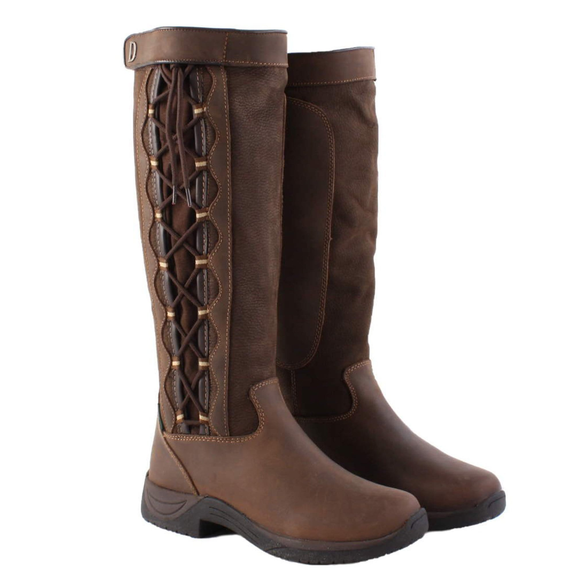 Dublin Pinnacle Boots Chocolate Brown 213870 Right Side Pair