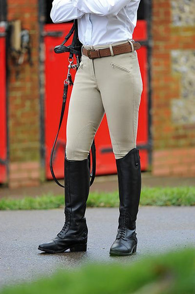 Dublin Supa Shape It Heritage Clarino Knee Ladies Breeches - EQUUS
