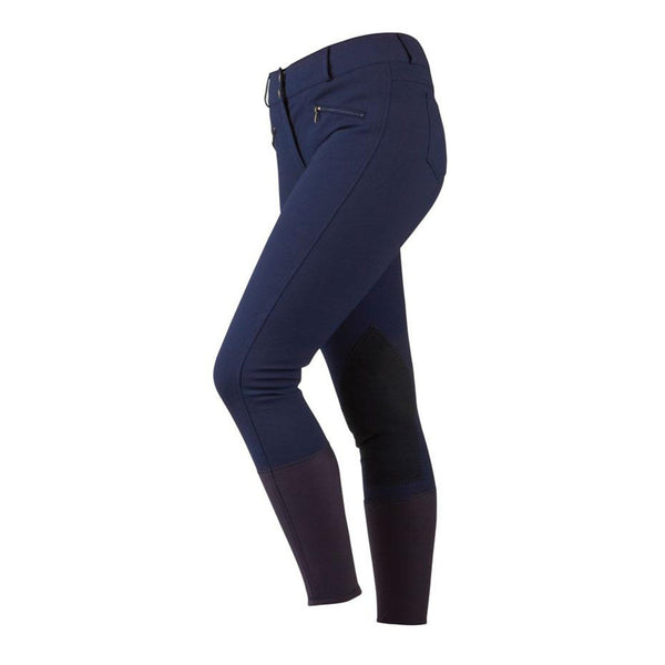Dublin Supa Shape It Performance Ladies Breeches Navy Studio Front View 518786