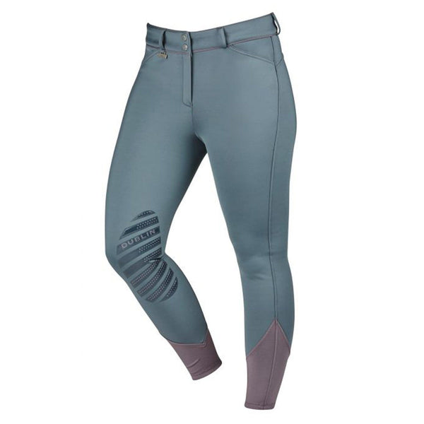 Dublin Thermal Gel Knee Patch Breeches Iron Front