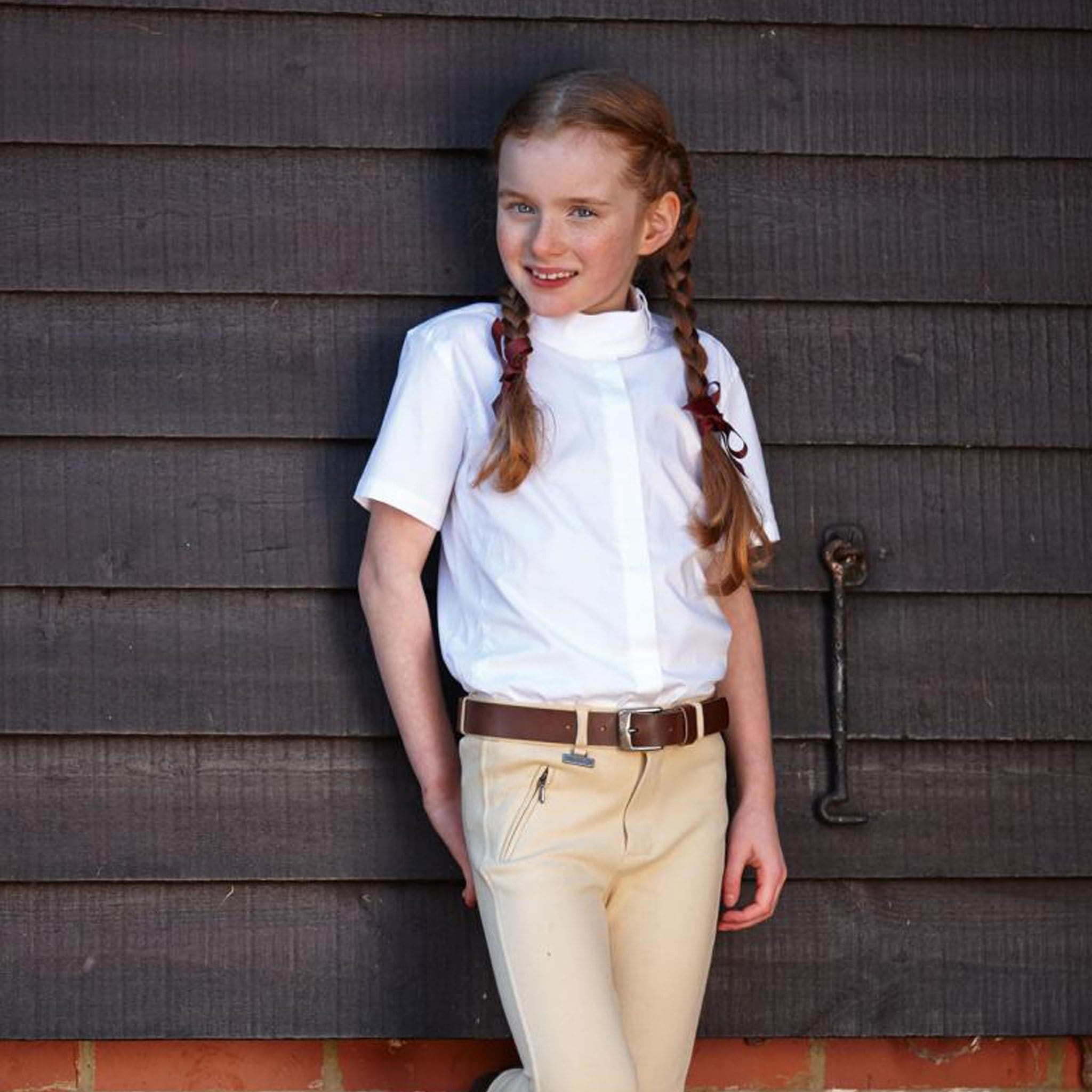 Dublin Twyford Children's Competition Shirt with Stock Collar