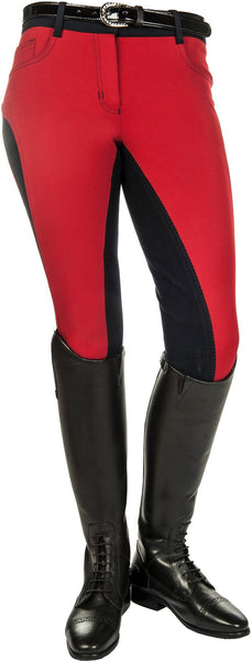 HKM Pro Team Dynamic Contrast Children's Three Quarter Seat Breeches Side View