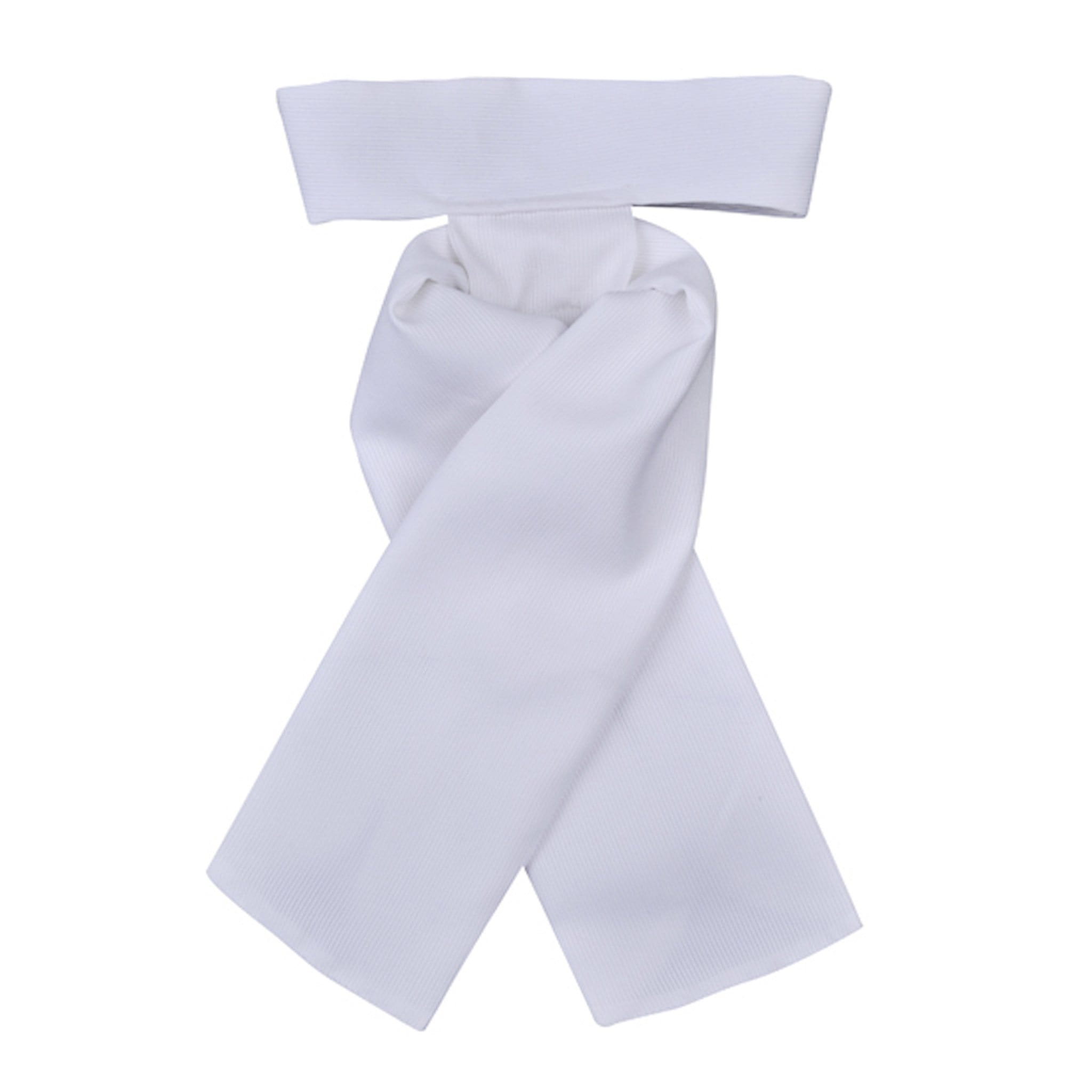 HKM Easy Stock Tie 1486 Medium White