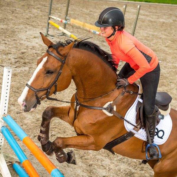 Equestic SaddleClip used by Showjumper