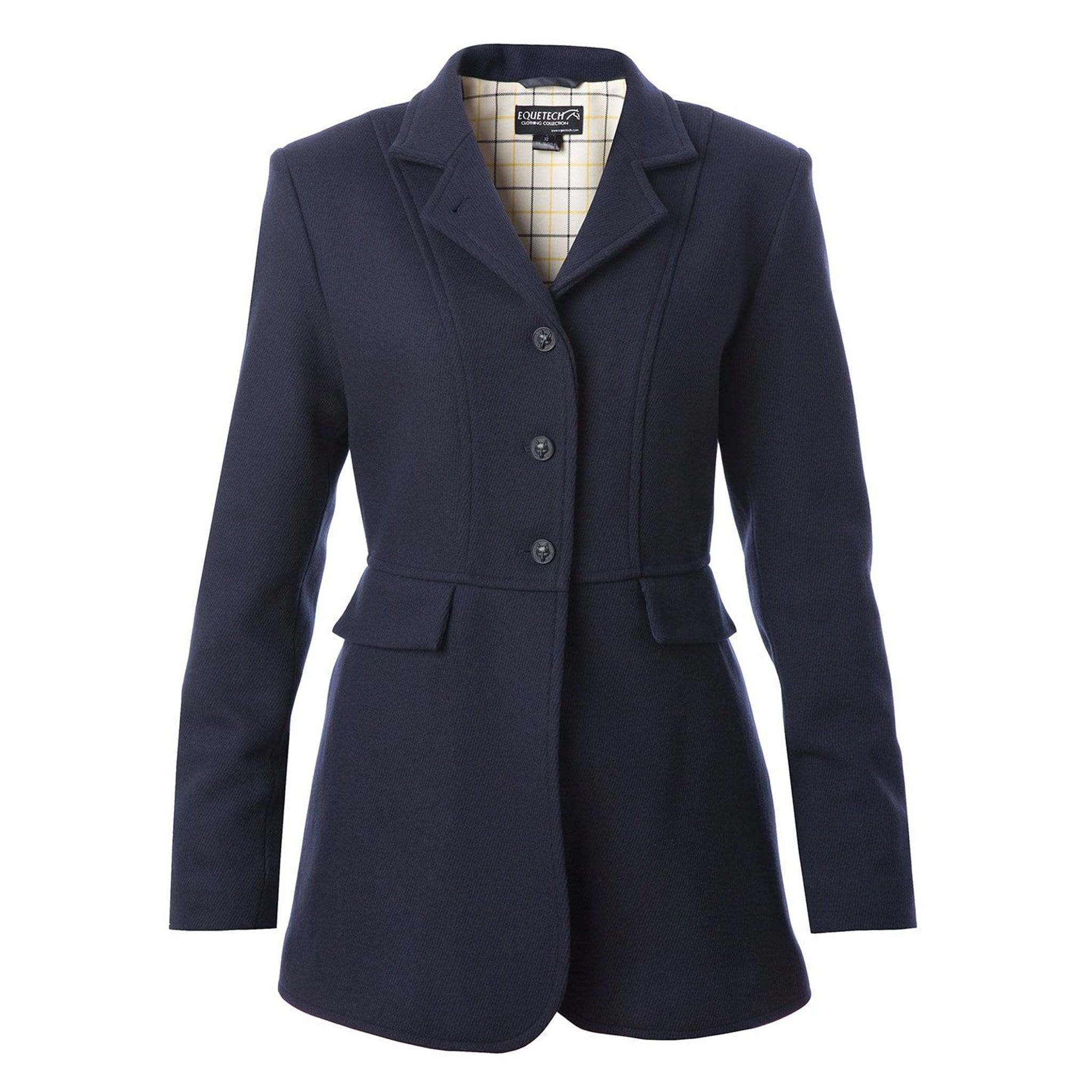 Equetech Hunt Wool Frock Coat Navy Front HFK