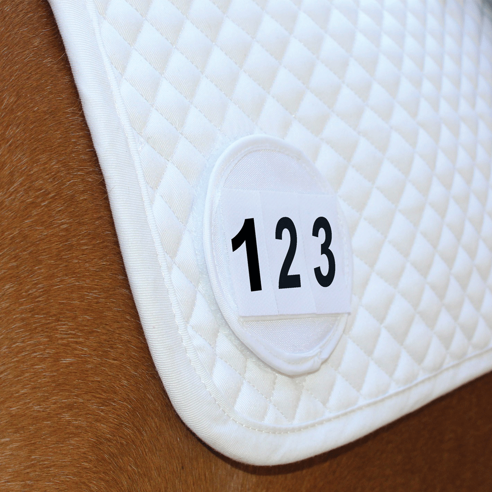 Equetech Saddle Cloth Competition Numbers SCN White
