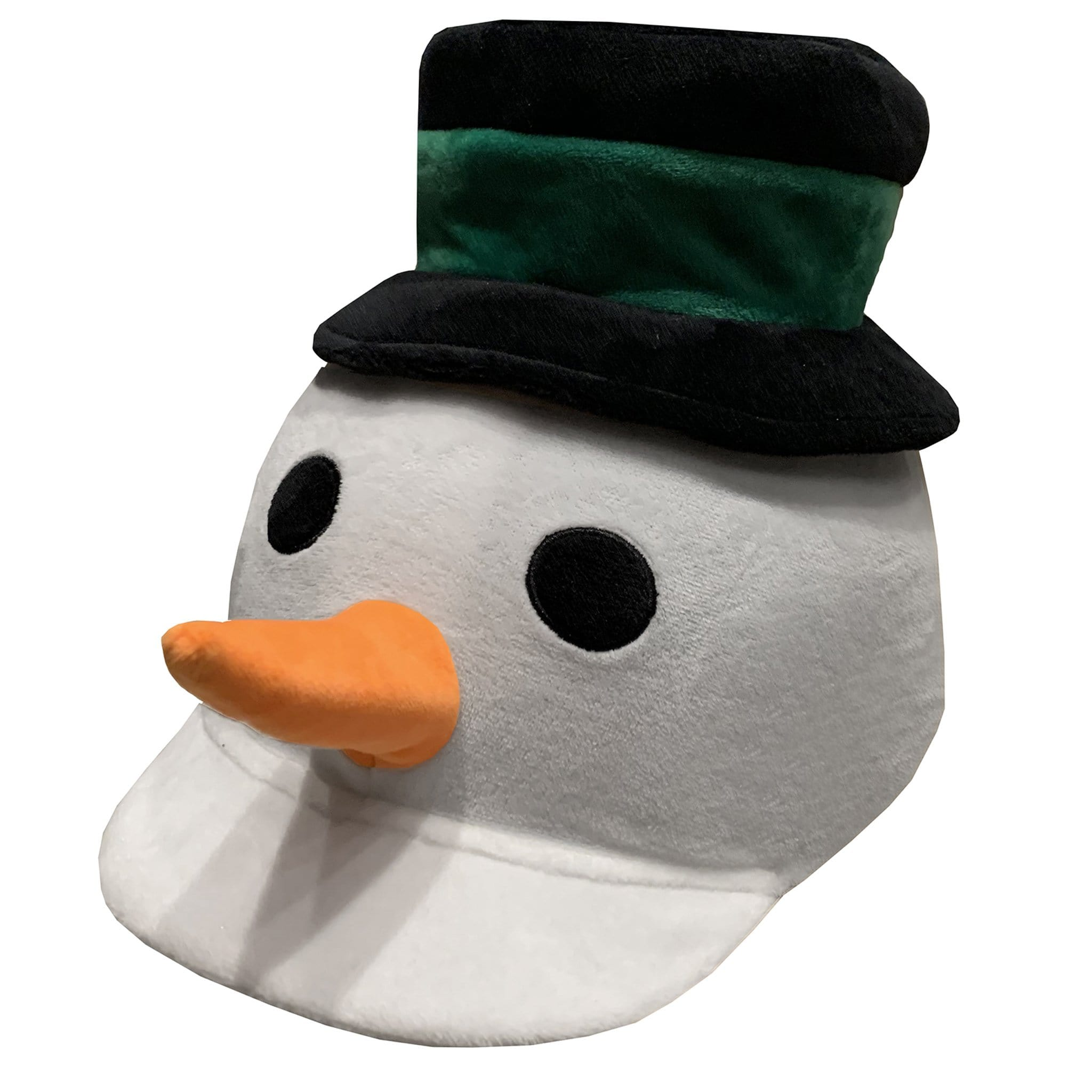 Equetech Happy Snowman Hat Silk Front View SMH White Novelty Hat Cover