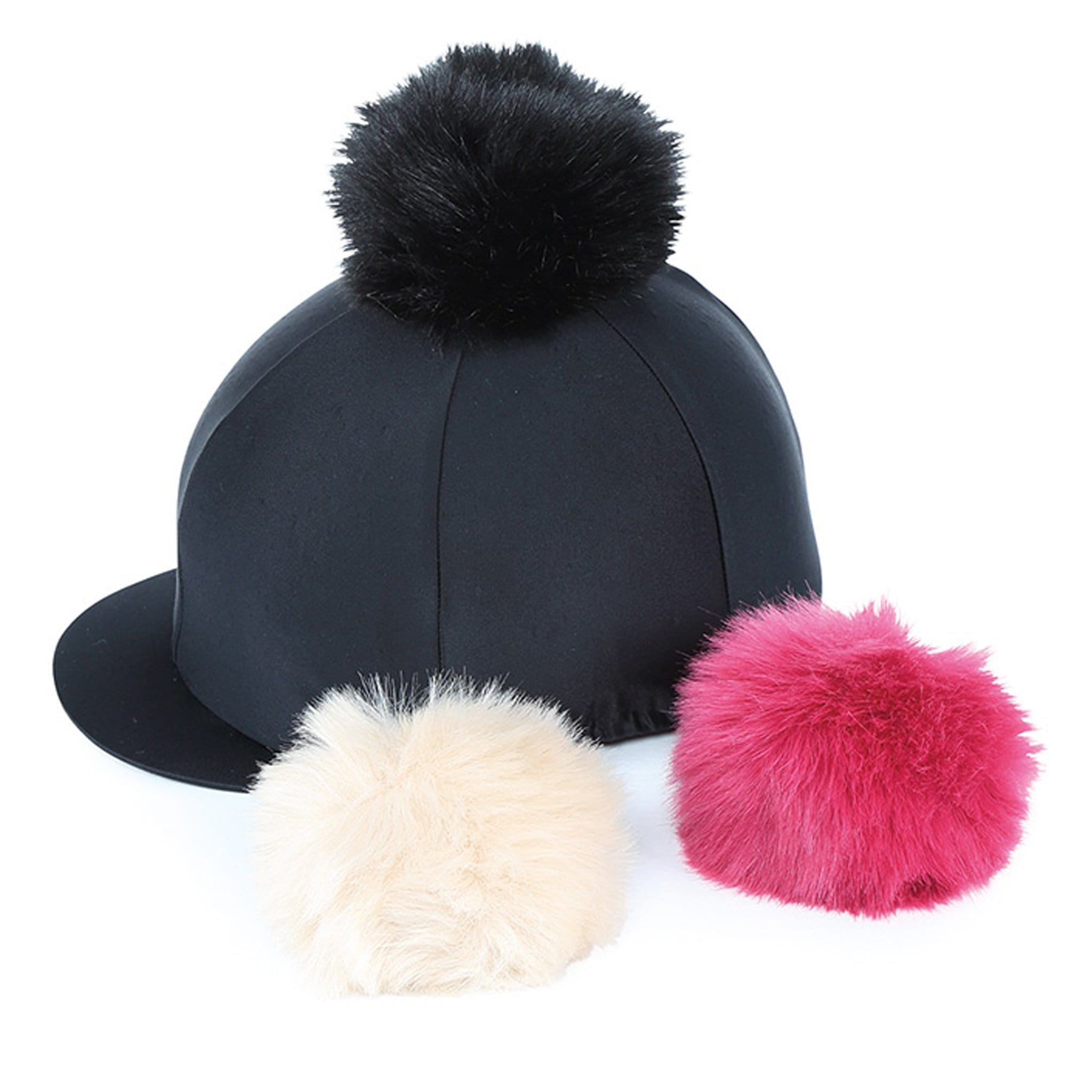 Shires Switch It Pom Pom Hat Silk Black 834.