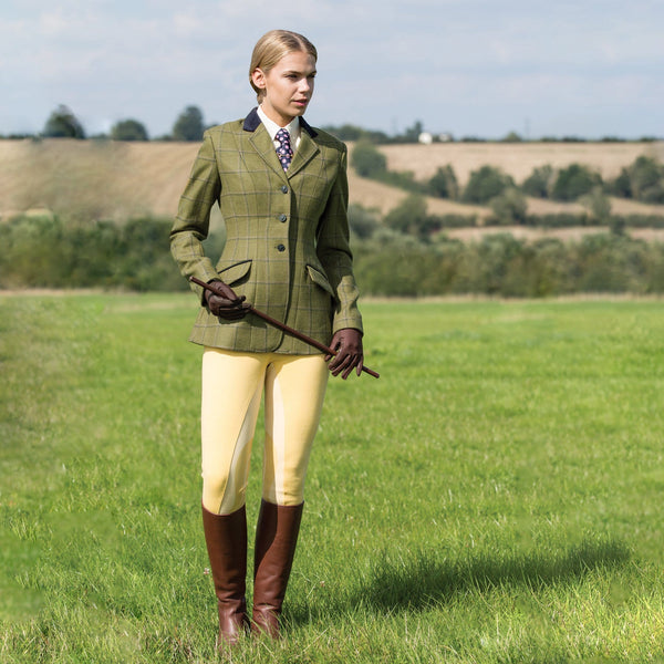 Equetech Adstock Deluxe Tweed Riding Jacket Lifestyle Full