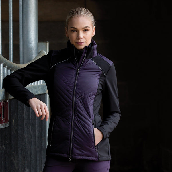Equetech Apollo Quilted Soft-shell Jacket Front View AQS