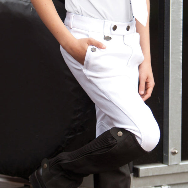 Equetech Boys Casual Breeches White BCB