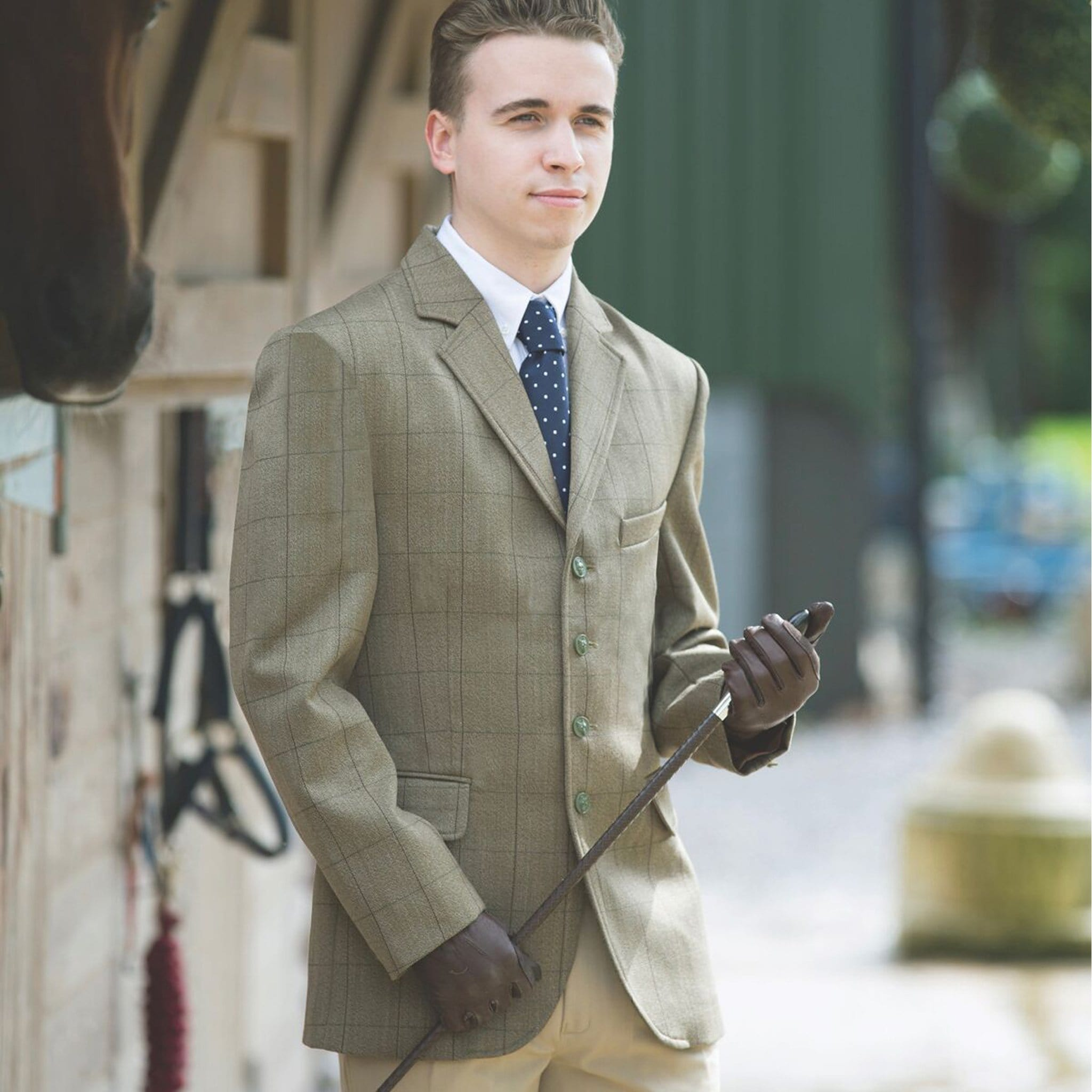 Equetech Boy's Foxbury Tweed Riding Jacket MBE