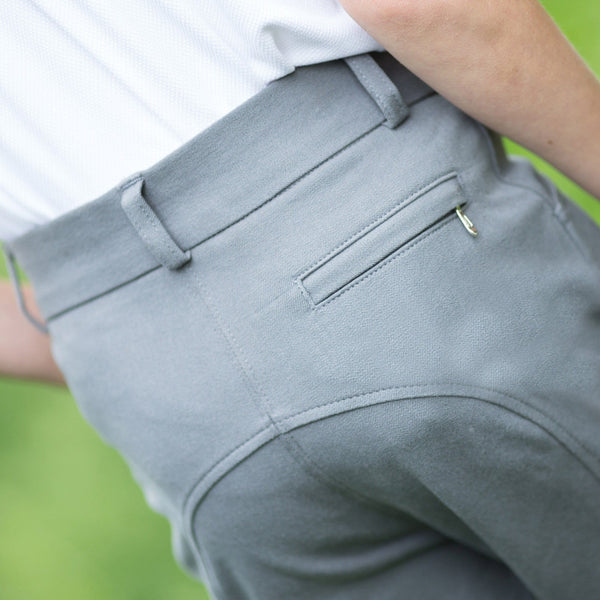 Equetech Boys Sports Breeches Grey Rear View BSB