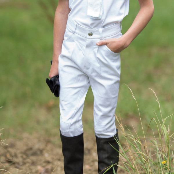 Equetech Boys Sports Breeches White BSB