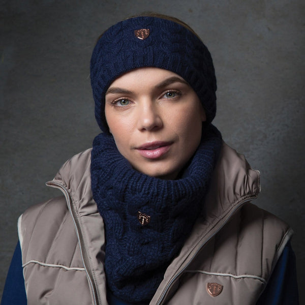Equetech Cable Knit Headband in Navy