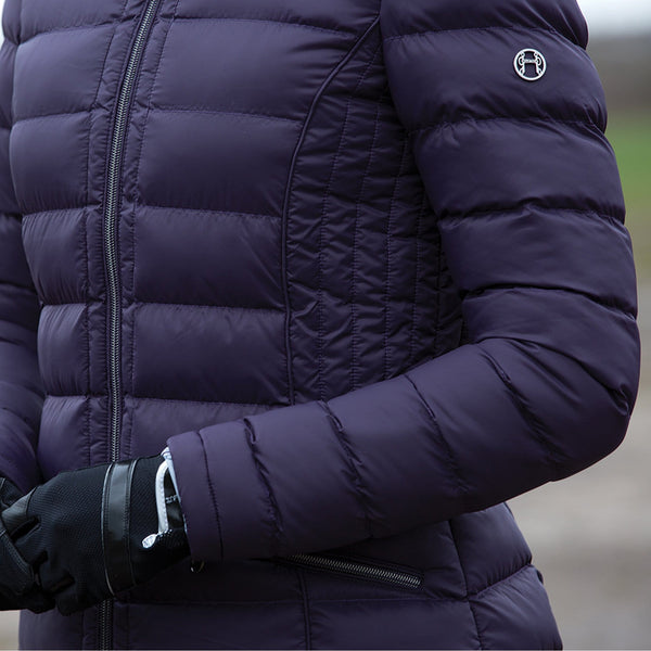 Equetech Chalgrove Micro Packable Jacket Blackberry Sleeve CMJ